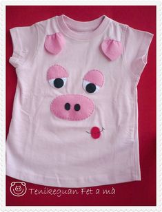 Tenikeguan: Catálogo Camisetas Diy Projects For Kids, Diy For Kids, Sewing For Kids, Baby Sewing, Applique Designs, Embroidery Designs, Toddler Outfits, Kids Outfits, Cute Tshirts