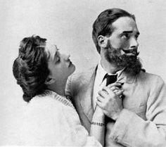 Harley Granville Barker and his wife Lillah McCarthy. Barker was a playwright and McCarthy became an actress-manager in her own right. Here he's playing Bernard Shaw.