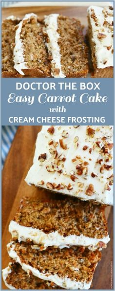 Doctor the Box: Carrot Cake from Spice Cake Mix Box Carrot Cake Recipe, Carrot Cake Bars, Easy Carrot Cake, Spice Cake Recipes, Easy Cake Recipes, Easy Desserts, Dessert Recipes, Carrot Cakes, Carrot Cake Frosting