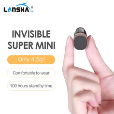 LANSHA Mini Bluetooth Earbuds Handsfree Noise Cancelling Smallest Wireless Earphone With Mic For Mobile Phone Iphone In Car //Price: $0.00//     #storecharger