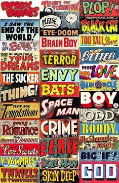 Ittttttttt's allllllllive! Pulp Poetry stickers by wackystuff, via Flickr