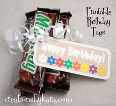 Young Women's birthday tags-printables