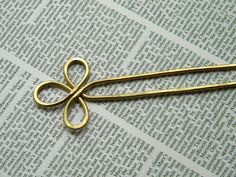 Hair Fork Brass Hair Slide Hair Sticks Hair by ElizabellaDesign, $17.00