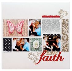 I love Lisa's grid-work in this beautiful layout!