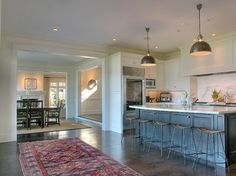Stained Concrete Floors Cost Kitchen Traditional with Concrete Floor Counter Stools Stained Concrete Floors Cost, Concrete Kitchen Floor, Concrete Shower, Kitchen Flooring Options, Floors Kitchen, Flooring Ideas, House Floor Design, Kitchen Tops, Kitchen Ideas