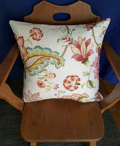 Updated Spring Chintz pillow cover employing fresh colours- upholstery fabric makes it stain and fade resistant, yet machine washable Pillow Covers, Upholstery, Etsy Seller, Unique Jewelry, Handmade Gifts, Colours, Throw Pillows, Fresh, Spring