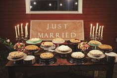We likely are not going to have a wedding cake. But I do like the idea of a bunch of delicious pies!