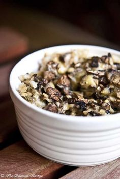 Mushroom and Brown Rice Casserole. Add some cooked extra lean ground turkey or beef and you have a complete meal