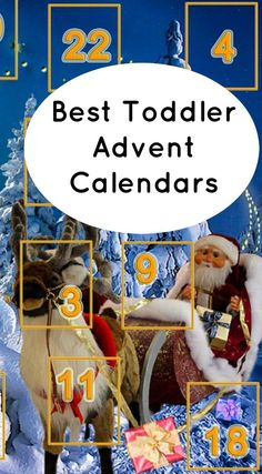 Toddler advent calendars are so much fun for 2 and 3 year olds! Find the best advent calendars for toddlers for 24 days of Christmas countdown fun! #christmasfortoddlers