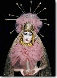 """Interesting lady holding a glitter penis, calls herself 'Ladyfag': """"...I feel like I'm me, exactly who I am. I'm unapologetically a woman and proud of it. I'm unapologetically a fag and proud of that, too..."""""""