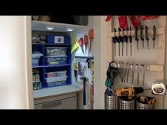 How to organize your closet for tools or crafting supplies - YouTube
