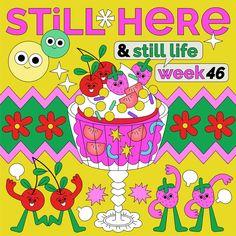 Still Here Still Life (3) on Behance Graphic Wallpaper, Retro Wallpaper, Retro Illustration, Graphic Design Illustration, Graphic Design Posters, Graphic Design Inspiration, Graffiti Tattoo, Cartoon Design, Cute Stickers