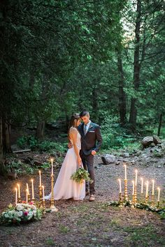 outdoor weddings - photo by Booth Photographics http://ruffledblog.com/mossy-glen-elopement-inspiration