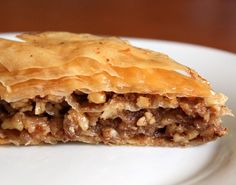 Baklava close up Greek Sweets, Greek Desserts, Just Desserts, Delicious Desserts, Yummy Food, My Favorite Food, Favorite Recipes, Sweet Cakes, How Sweet Eats