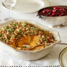 Roasted Garlic-Root Vegetable Mash: These are not your mother's mashed potatoes. Mix Yukon potatoes, sweet potatoes, and rutabaga with slow-roasted garlic for a side that shines. #garlicrecipes