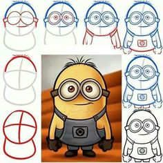 How to draw minion.