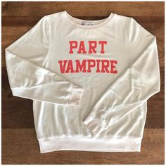 @wellheeledshoes featuring the Part Time Vampire Baggy Beach Jumper Wildfox, Holiday Fun, Jumper, Sweatshirts, Beach, Sweet, Sweaters, How To Wear, Fashion