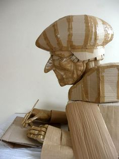 Intricate Cardboard Sculptures by Dylan Shields, an artist from the UK / http://www.dylanshields.co.uk/#sculpture