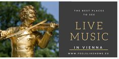 The best places to see live music in Vienna Classical Music, Live Music, Vienna, Places To See, The Good Place, Good Things, Concert, Beautiful, Concerts