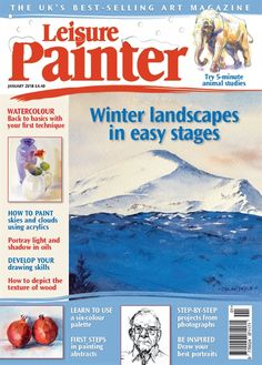 We will soon be unveiling some new features on Painters Online! Magazine Art, Magazine Design, Coloured Pencils, January 2018, Drawing Skills, Sky And Clouds, Selling Art, Light And Shadow, Painters