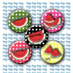 INSTANT DOWNLOAD 1 Inch Watermelon Circles by SassyCraftsBoutique, $2.22