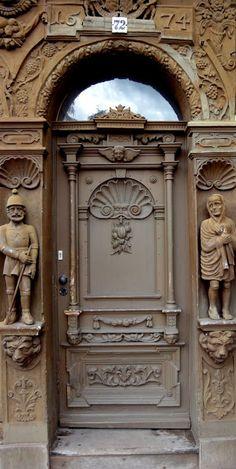 Door in Harz Mountains, Germany, est. Entrance Ways, Grand Entrance, Entrance Doors, Doorway, Door Knockers, Door Knobs, Door Handles, Cool Doors, Unique Doors