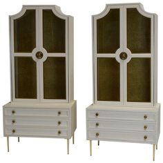Pair of Cabinets by Renzo Rutili for Johnson Furniture Co. | From a unique collection of antique and modern cabinets at http://www.1stdibs.com/furniture/storage-case-pieces/cabinets/