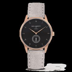 PAUL HEWITT Signature Line Watch Rose Gold MARK I Black Sea Suede Grey