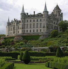Dunrobin Castle, Golspie, Sutherland on the north east coast of Scotland. The seat of the Sutherland family.