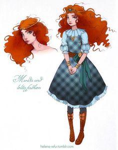 Merida and lolita fashion by Moon-In-Milk on DeviantArt Moda Lolita, Lolita Mode, Disney Dream, Disney Style, Disney Love, Disney Magic, Disney Nerd, Disney Fan Art, Walt Disney