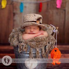Pescado y sombrero de pesca popular Baby SET por NitaMaesGarden