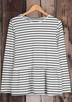 Striped piece-$17.99 Only with free shipping&easy return! This basic style is detailed with falbala hem! Pair it up with your favorite PU coat! So chic&cozy at Cupshe.com