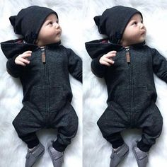 Kinder Baby Boy warme Säuglingsspielanzug Overall Bodysuit mit Kapuze Kleidung Pullover Outfit - mode bébé - Bebe Baby Outfits, Kids Outfits, Baby Boy Outfits Newborn, Sweater Outfits, New Born Outfits Boy, Cheap Outfits, Swag Outfits, Baby Boy Fashion, Fashion Kids