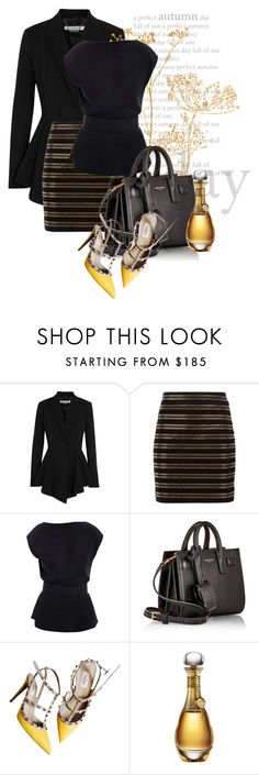 """""""old gold"""" by kiera-van-witte ❤ liked on Polyvore featuring Givenchy, Balmain, Raoul, Yves Saint Laurent, Valentino, Christian Dior, women's clothing, women's fashion, women and female"""
