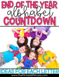 One of the best end of the year activities is an ABC Countdown! Why celebrate for one day when you can celebrate for 26 days? This make an Alphabet Countdown a the perfect way to count down to the end of the school year. You simply plan a small activity each day to match the letter. In this blog post you'll find several ideas for each of the 26 letters. These end of the year ABC countdown ideas are perfect for PreK, Kindergarten, or First Grade!