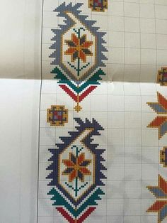 This Pin was discovered by _ba Cross Stitch Floss, Cross Stitch Borders, Modern Cross Stitch Patterns, Cross Stitching, Cross Stitch Embroidery, Embroidery Patterns, Pinterest Cross Stitch, Palestinian Embroidery, Vintage Cross Stitches