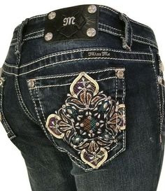 6b3a29a32ef You are purchasing a Brand New NWT Miss Me Signature Boot Cut Jeans Medium  Blue Size 27 x 34