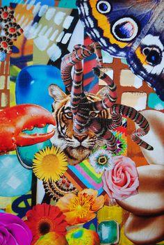 Tiger Trip, John Turck Collage