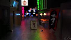 Bars at night - Bokeh