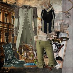 """steampunk peter pan"" by hunted-by-death on Polyvore"