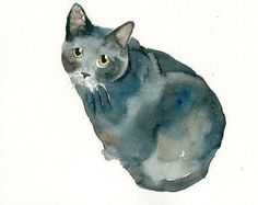 CUSTOM PET PORTRAIT  Original watercolor painting