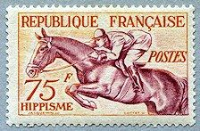 Hippisme Jeux Olympiques d´Helsinki 1952 - Timbre de 1953