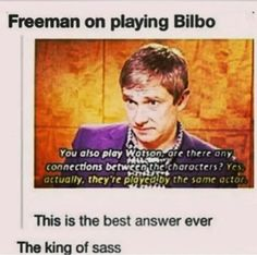You know I kind of want to c a sass off between Martin Freeman, Percy Jackson, and Harry Potter. I think the world would explode...