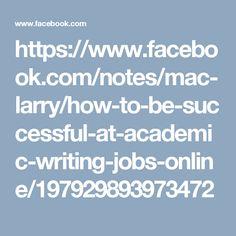 Academic writing job