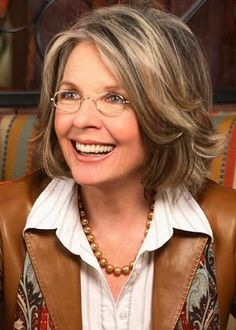 diane keaton hairstyles front side and back | diane keaton