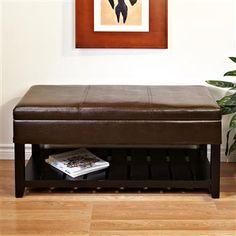 Ksp Conrad Leatherette Storage Bench 104 X 50 X 50 Cm Brown | Kitchen Stuff Plus $149