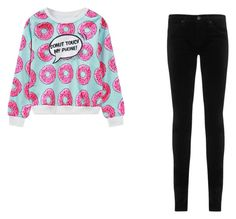 """""""💜"""" by lydiagunning19 ❤ liked on Polyvore featuring WithChic and AG Adriano Goldschmied"""