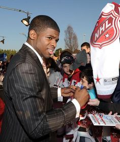 Montreal Canadiens defenceman P.K. Subban was named a finalist for the Norris Trophy on Tuesday.  Kris Letang of the Pittsburgh Penguins and Ryan Suter are also in the running for the award given to the NHL's top defenceman.  Subban led all defencemen despite missing six games at the beginning of the season due to a contract holdout. He finished with 11 goals and 27 assists, and led all blue-liners with 26 power-play points.