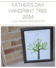 Father's Day Handprint Tree 2014 #printable #freedownload