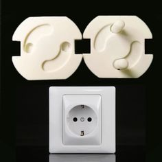 Cheap plug protector, Buy Quality baby socket directly from China socket baby Suppliers: EU Power Socket Electrical Outlet Baby Kids Child Safety Guard Protection Anti Electric Shock Plugs Protector Rotate Cover Electrical Outlet Covers, Electrical Safety, Electrical Outlets, Baby Safety, Child Safety, Safety Cover, Electric Shock, Baby Cover, Baby Kind